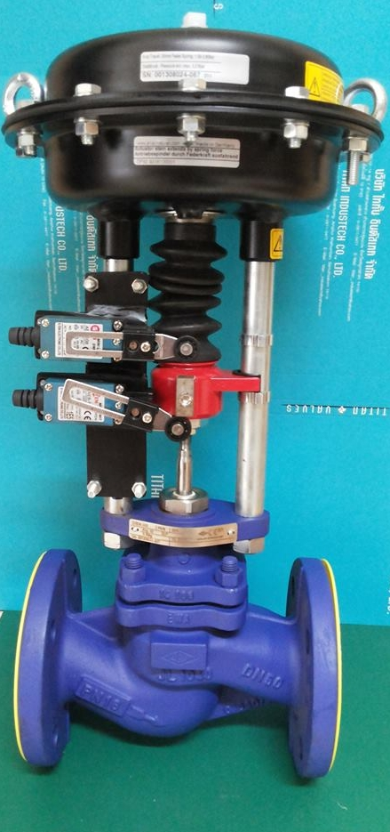 2 Way Control Valve With Dp32 Pneumatic Actuator With